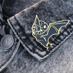 Gold Bat Enamel Pin